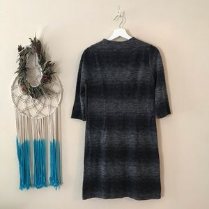 Gorges Cato gray and black sweater dress